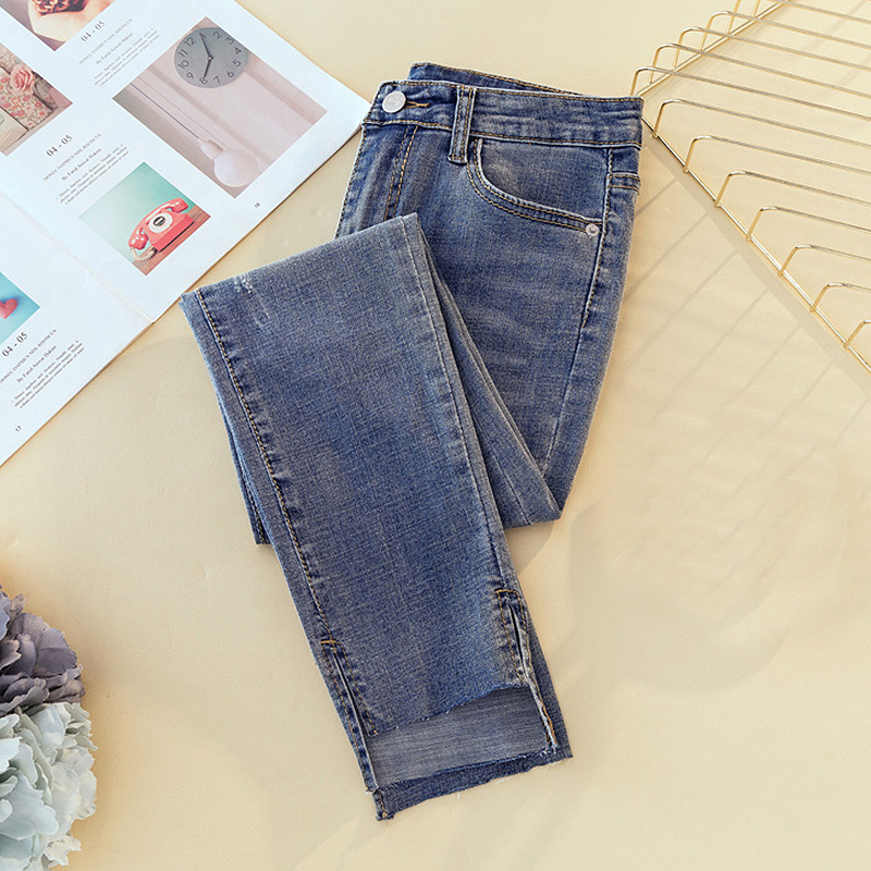 Vintage Ripped Skinny Pencil   Jeans   Woman High Waist Mom Stretch   jeans   Ladies Plus Size Denim Pants Trousers Women   jean   femme