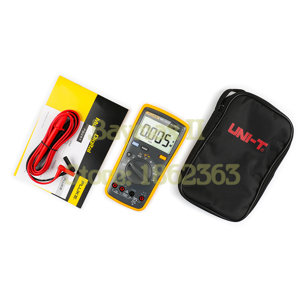 Fluke 12e Auto Range Digital Multimeter Ac Dc Voltage Current And Tester Energy Meter Voltmeter Ammeter 110 250v 20a 100a
