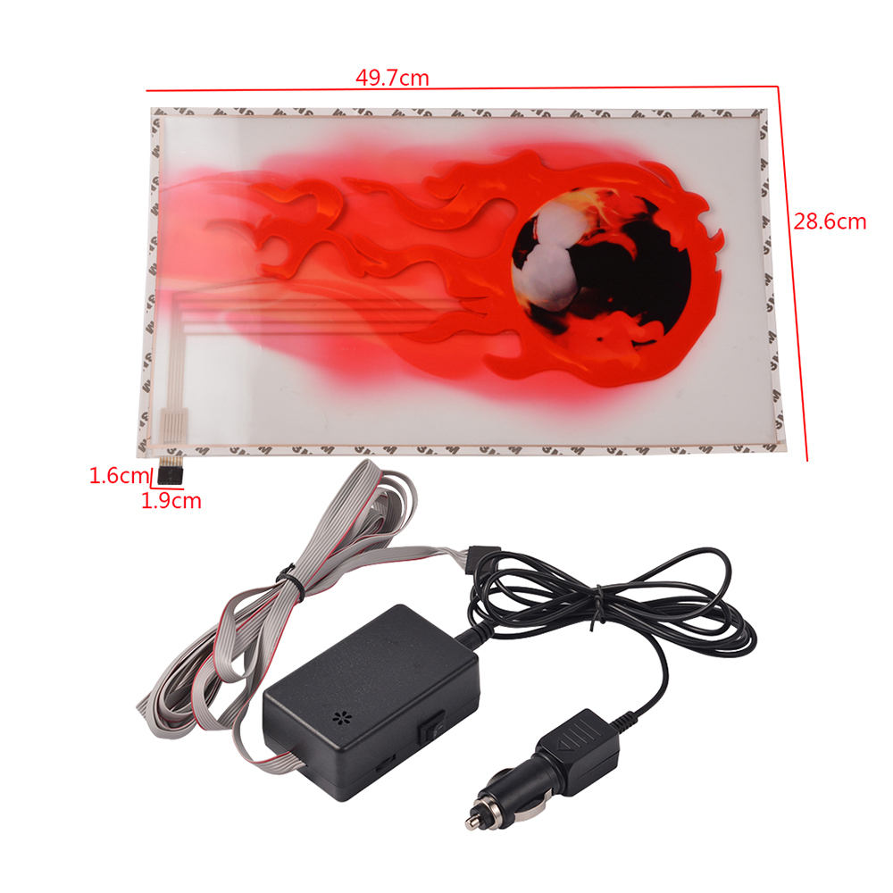 49.7cm*28.6cm Sound Rhythm Music Activated Car Sticker LED Colorful Fireball Flash light Car accessories 2000H