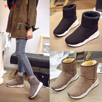 HQFZO High quality women winter boots ladies soft comfy warm plush snow boots female short boots women botas mujer invierno snow boot