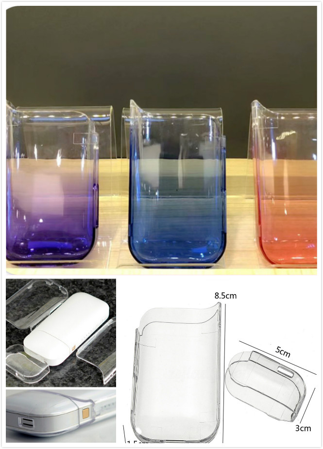 Transparent Waterproof Clear PC Case Cover For IQOS Electronic Cigarette Protective Cases