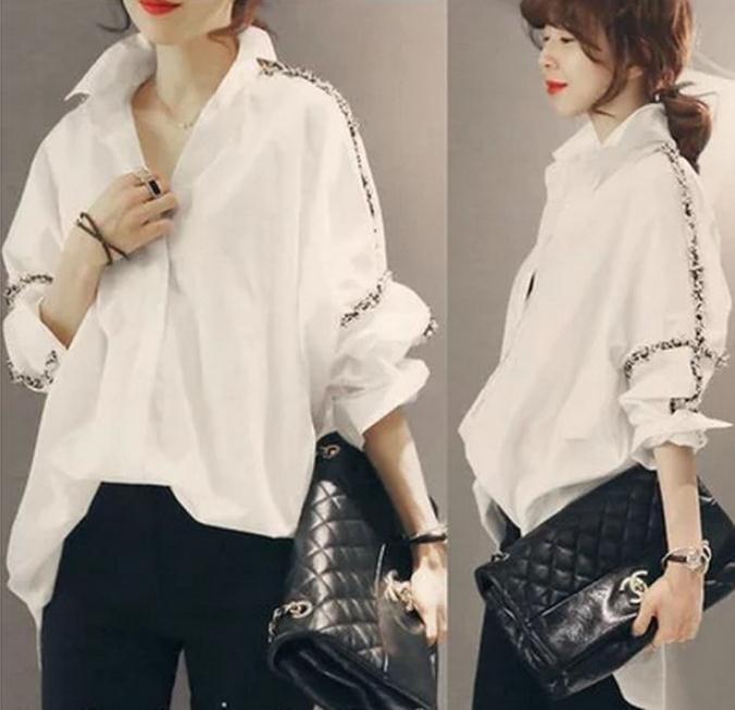 Znalezione obrazy dla zapytania white shirt style women