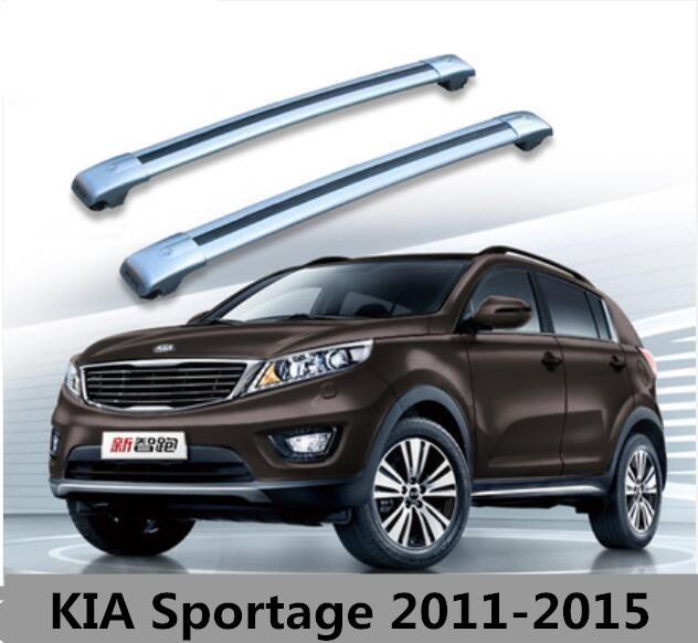 Car Aluminum Roof Rack Rail Baggage Luggage Cross Bar For KIA Sportage 2010  2011 2012 2013
