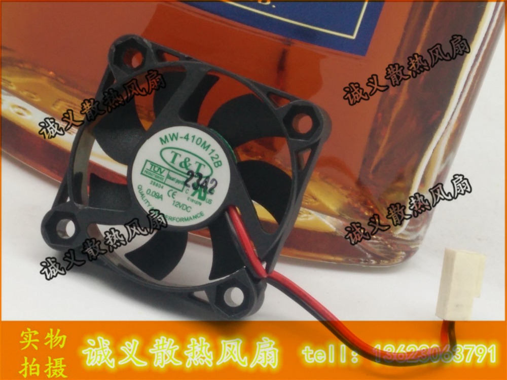 For AVC 40x40x10mm 12v dc MW-410M12B 4010 4CM North South bridge silent quiet cooling fan 12V 0.09A