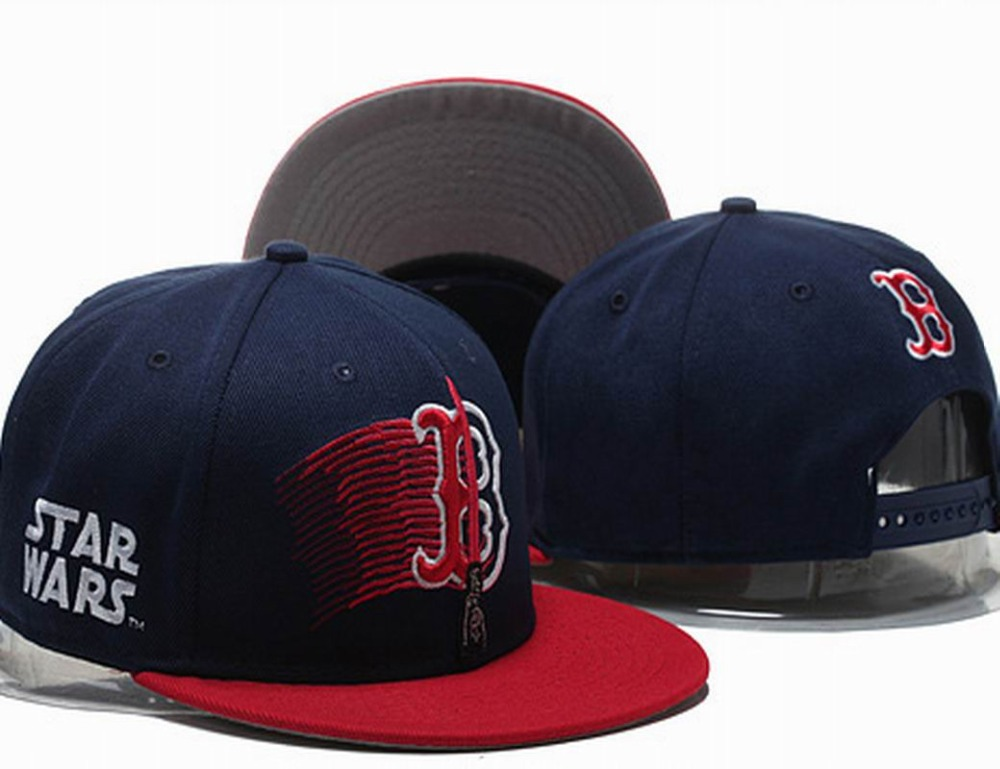 dc74328a 2015 Men's Boston Red Sox Snapback Hats Star Wars Sport Teams Embroidered  Logo Baseball Caps Two Tones Bones Gorras