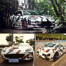цена на 152cm*20cm Car Camouflage Color Change Film Forest Digital Jungle Body Color Change Film Color Change Paper  Car Stickers