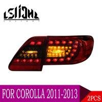 LSlight для Toyota Corolla 2011 2012 2013 светодиодный задний блок освещения лампочка габаритов ходовые огни Стоп Тормозная сигнальные