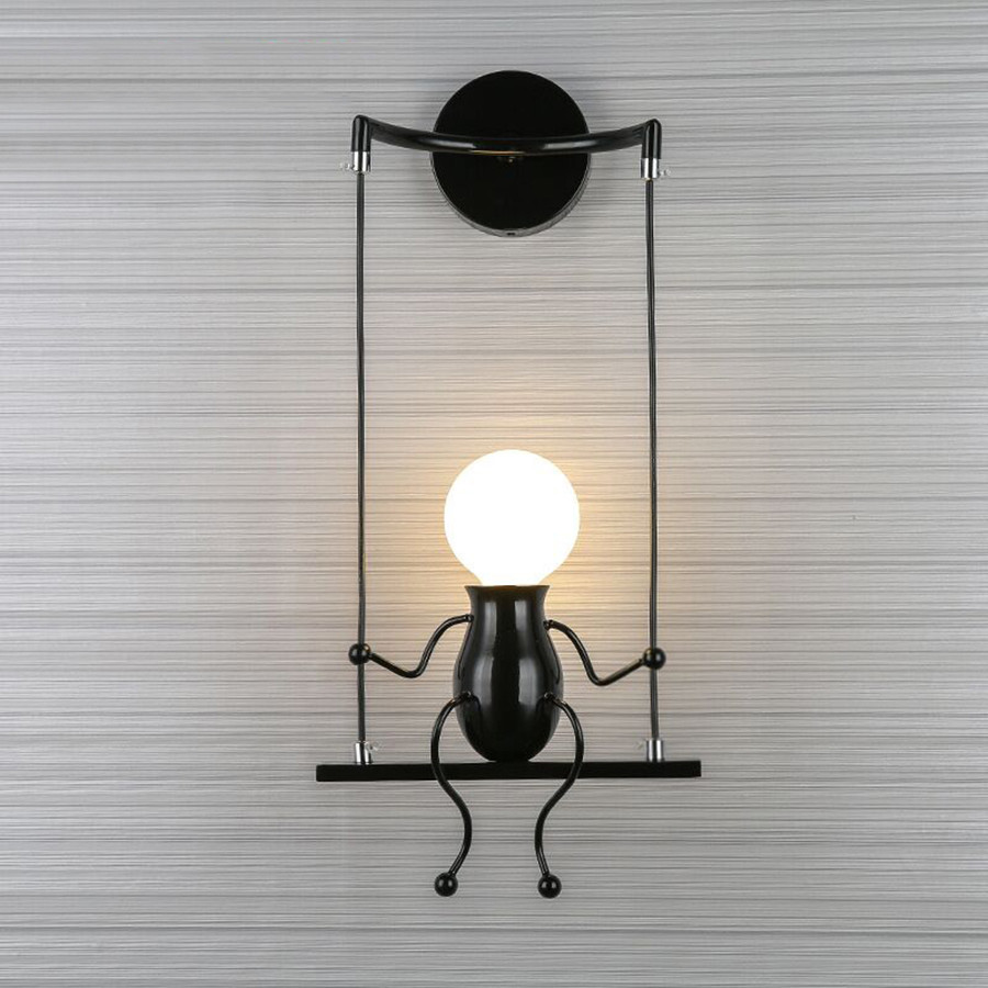 2018 Modern LED Wall Light Creative Figure Mounted Wall Lamp Sconce