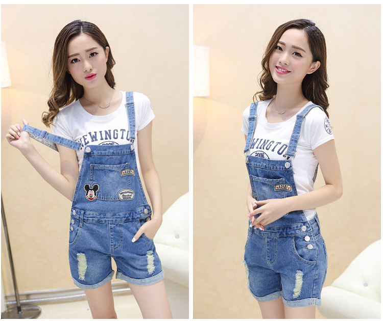 Taobao explosion 2015 summer women's fashion Couture slim suspenders worn denim shorts with braces брелок blue sky faux taobao pc006
