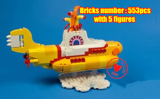 lepin 21012 The Beatles John Lennon Paul McCartney Yellow Submarine Building Blocks Models compatiable with lego kid gift set yukon sibir т 20 50x50 21012
