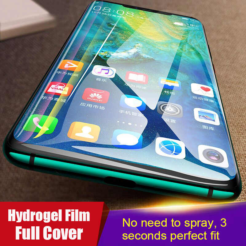 6D Full Cover Soft Hydrogel Film For Huawei P30 P20 Pro Mate 20 Pro Lite Screen Protector Film For Honor 8X Max 10 9 Not Glass