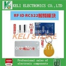 Бесплатная Доставка 10 ШТ./ЛОТ rfid-модуль RC522 Комплекты S50 13.56 МГц 6 см С Бирками SPI Написать & Read для arduino uno 2560