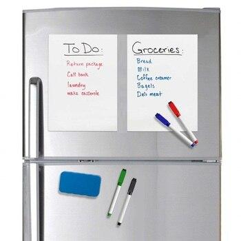 Pense bête format A5 magnétique blanc pour réfrigérateur