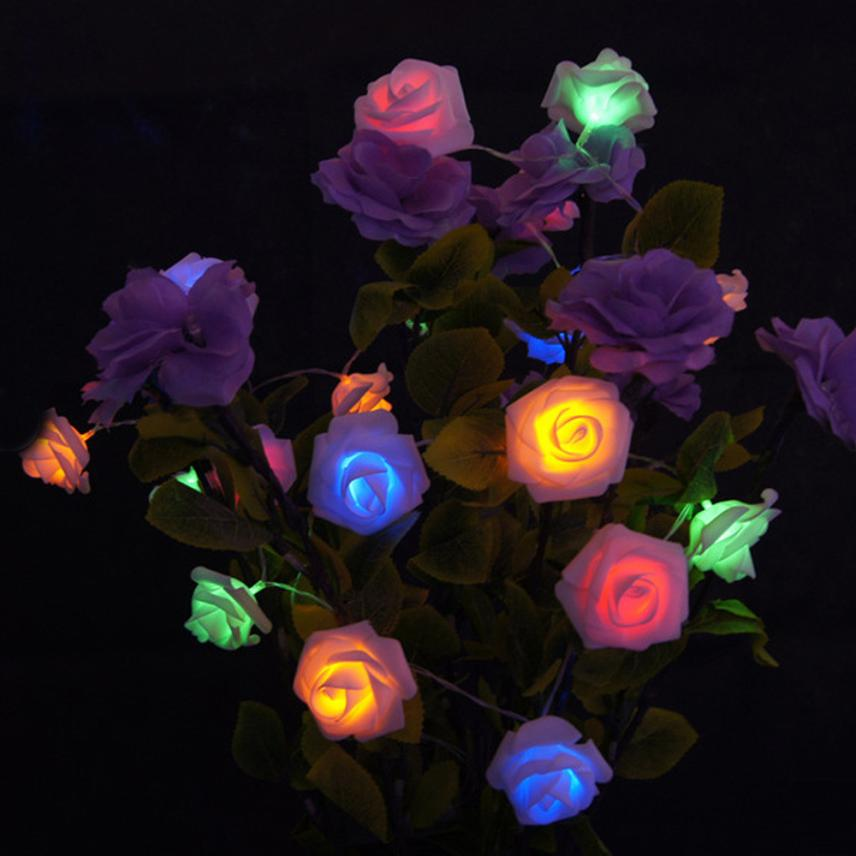 2.2M 20LED Simulation Of Roses Flowers String Lights Chains Decoration Chain #89