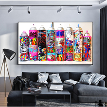 Graffiti Pop Art Spray Can Collection Wall Posters And Prints Colorful Paint Bottle Decorative Pictures For Bar Cafe