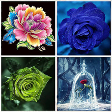 5D Diamond Painting Colorful flower Full Diamond  Embroidery Set Mosaic Cross Stitch picture Rhinestone Home Decoration Handmade цены