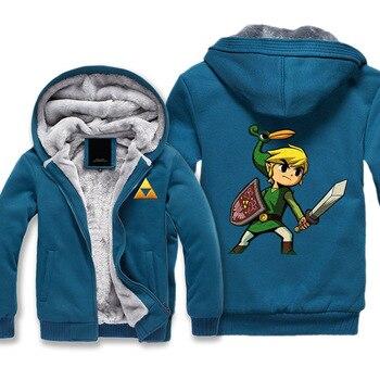 El Ledgend de Zelda Sudadera con capucha para hombres mujeres niño chaqueta de  invierno enlace Skyward Triforce 8dd050028c27
