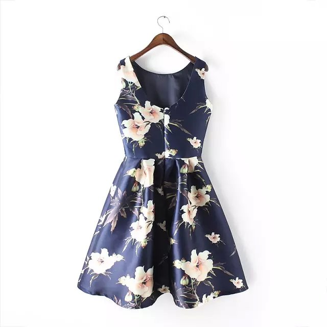 efb68883e4 celebrity women party dresses high brand floral print female fashion skiny  dress joker sleeveless lady banquet dressLBAA8226-in Dresses from Women's  ...