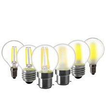 E14 / E27 / B22 Светодиодная лампа 220В G45 теплый белый скраб Винтаж люстра 2W 4W 6W Светодиодная