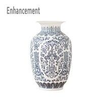 Blue And White Ceramic Vase Design Porcelain Flower Bat Pattern Vase Handmade Home Decoration Jingdezhen Flower
