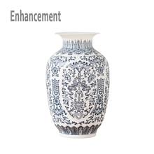 Blue and White Ceramic Vase Design Porcelain Flower Bat Pattern Vase Handmade  Home Decoration Jingdezhen Flower Vases
