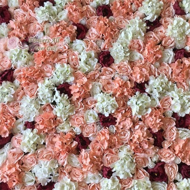 Sztuczny Kwiat ścienne Dekoracje ślubne Rose Hortensja Burgundii