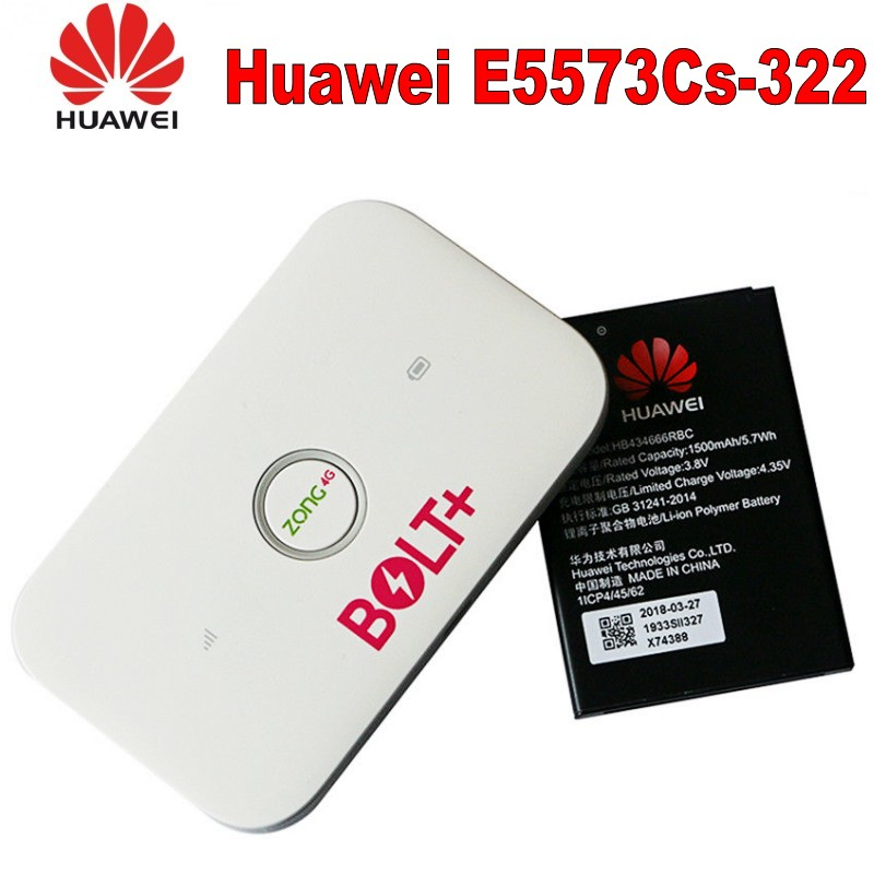 Huawei E5573Cs 322 3G/4G Wireless Mobile WiFi Router Personal Broadband Hotspot, Sign Random Delivery