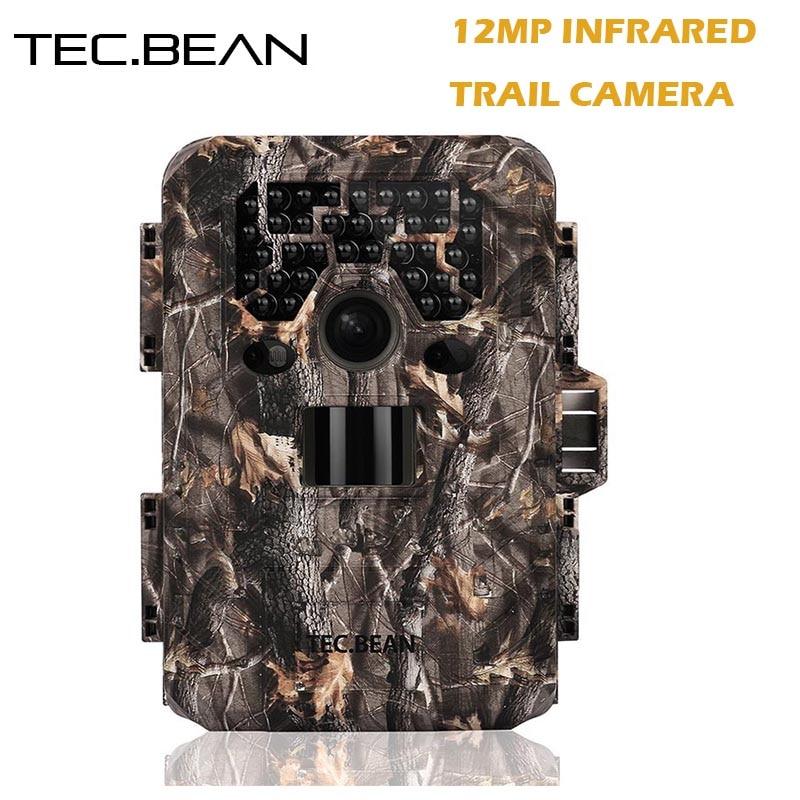 TEC BEAN 12mp Scouting Hunting font b Camera b font Night Vision 940nm IR GPS Infrared
