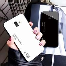 J6 Tempered Glass Cover Cases For Samsung Galaxy Plus Case SM-J610F Funda for J6plus Coque capa
