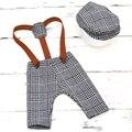 Комплект одежды для маленьких мальчиков  летние детские штаны + шляпа для фотографирования новорожденных реквизит Одежда для маленьких мал...