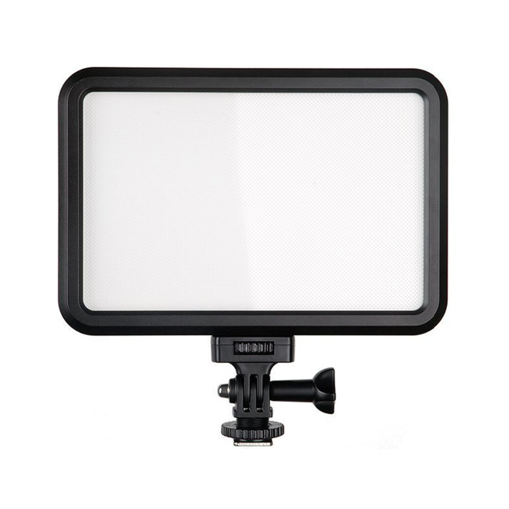 Tolifo Pt-12b LED Video Camera Light Panel Ultra Slim Dimmable Bi Color 3200K / 5600K with Hotshoe & 1/4 Mount for Sony Canon