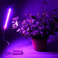 USB LED Plant Growth Lamp 5V 3W Full Spectrum Lights Silvery Body For Hydroponics System Greenhouse Green Plant flower lights