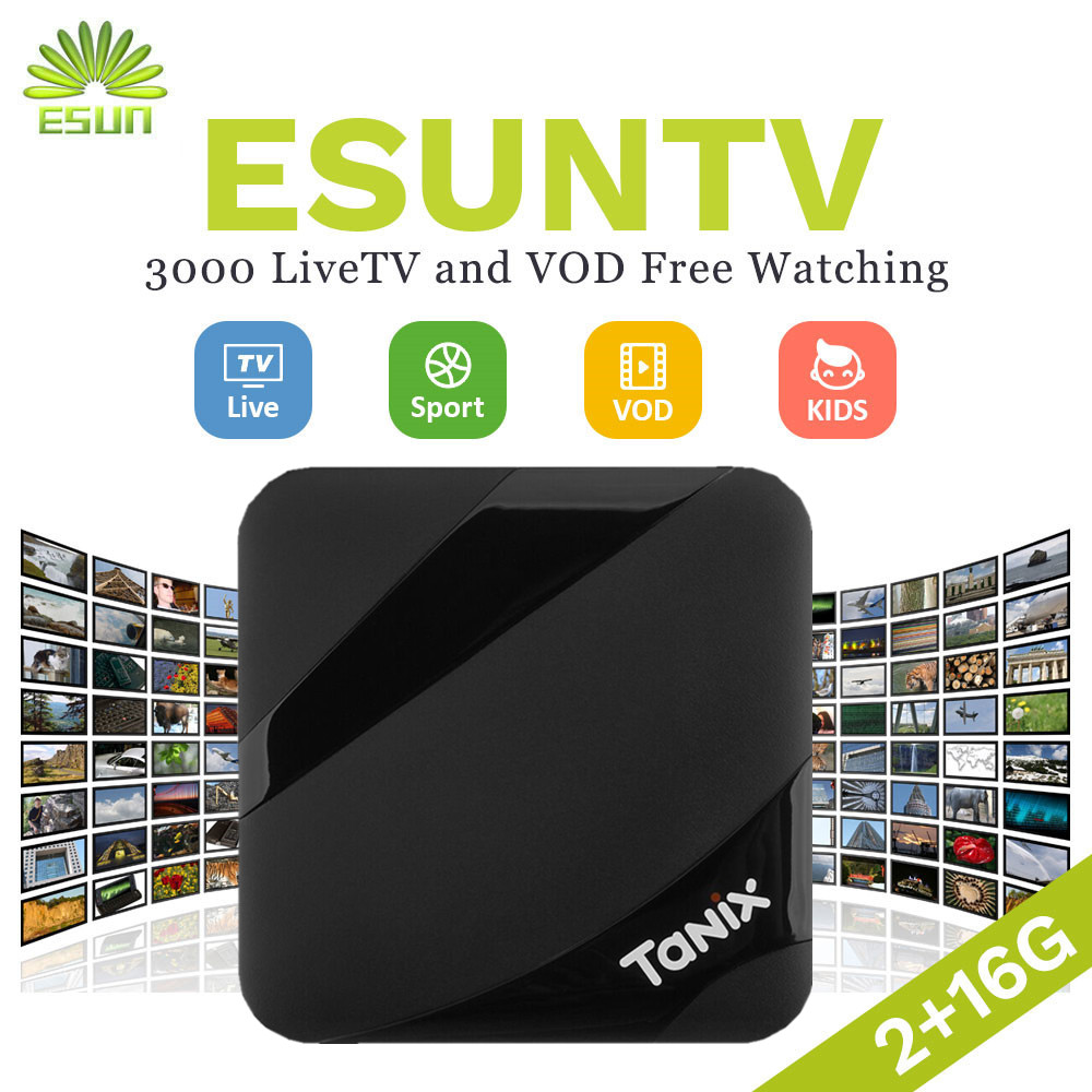 Tanix TX3 Max Smart TV Box Android 7.1 Box Europe/Spain/Potugal/UK/French/Germany/Italy/Netherlands/Sweden EX-YU xxx VOD italy iptv a95x pro voice control with 1 year box 2g 16g italy iptv epg 4000 live vod configured europe albania ex yu xxx