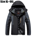 7XL 8XL 9XL Winter Jacket Men Brand-Clothing Thickening Warm Parka Coat Windproof Waterproof Jacket Velvet Windbreaker Men CF009