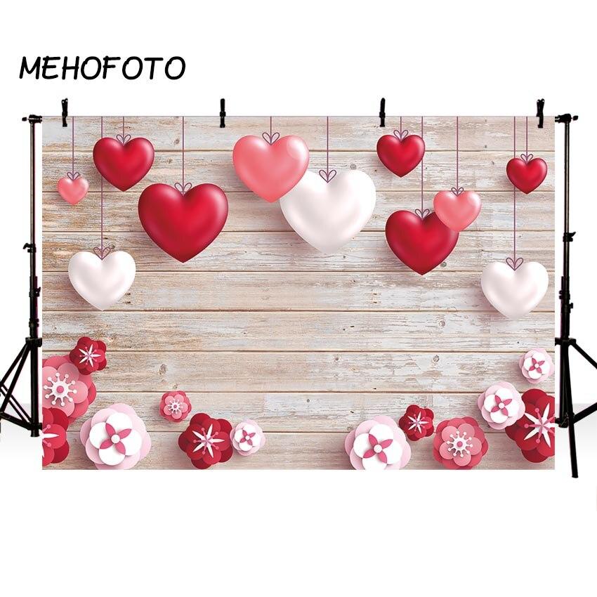 Фон для фотостудии День Святого Валентина фон фотосессия Сердце деревянная доска Декор фотосессия Backcrops