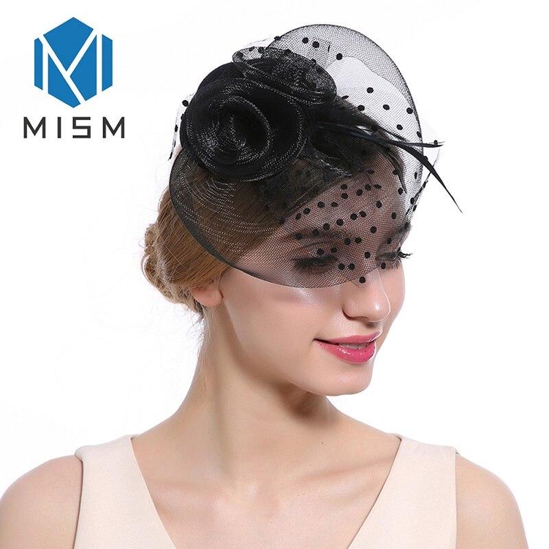 M MISM Womens Hair Accessories Wedding Dance Flowers Fascinator Hair Clips Mesh Veil Hair Ornaments Headwear Headpiece Hairpins headpiece