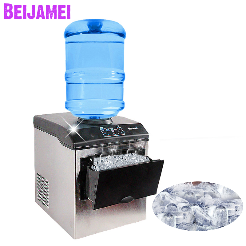 BEIJAMEI Commercial Automatic Ice Maker 25kg/24H Electric Bullet Round Ice Block Cube Making Machine Small Bar Coffee ShopBEIJAMEI Commercial Automatic Ice Maker 25kg/24H Electric Bullet Round Ice Block Cube Making Machine Small Bar Coffee Shop