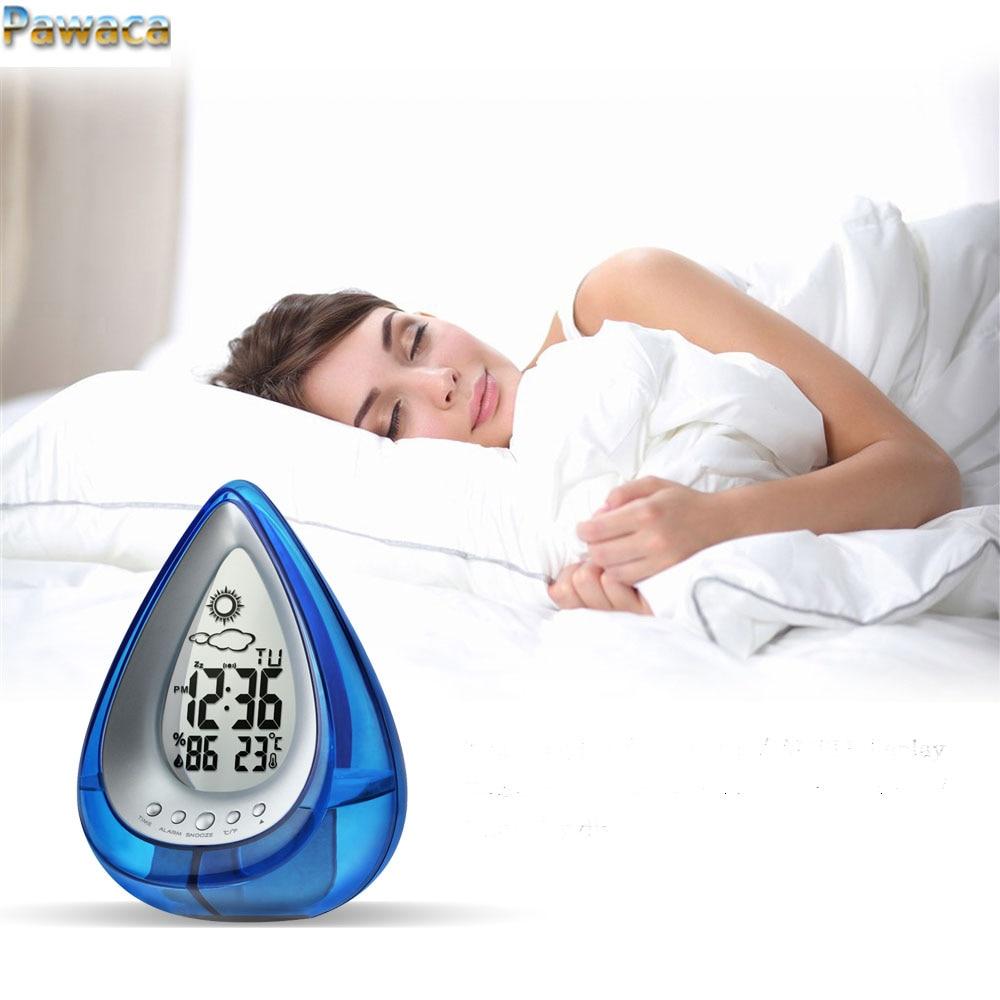 Kreative Wasser Powered Digitale Uhr Führte Elektronische Wecker Für  Schlafzimmer Mit Snooze Helligkeit Zeit Datum Temperatur