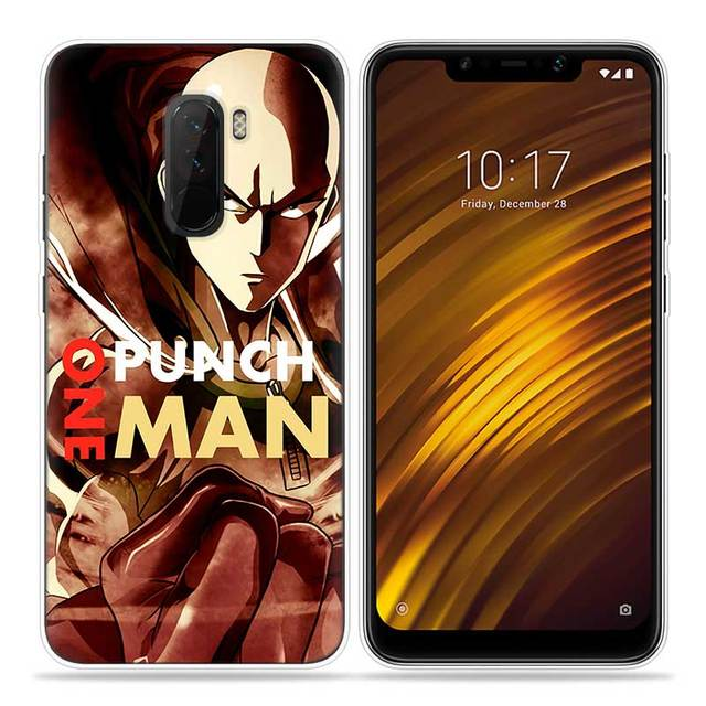 huge discount 632ef 95eda ONE PUNCH MAN Anime Silicone Phone Cases Cover Ultra Thin Pattern Shell for  Pocophone Xiaomi Redmi Poco F1 6.18 Inch