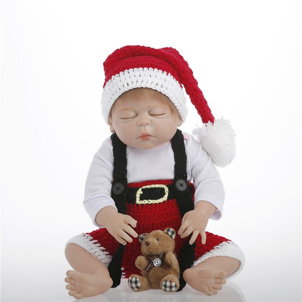 SanyDoll 22 inch 55 cm Silicone reborn dolls, lifelike doll reborn Lovely dresses, beautiful sleeping dolls, Christmas giftsSanyDoll 22 inch 55 cm Silicone reborn dolls, lifelike doll reborn Lovely dresses, beautiful sleeping dolls, Christmas gifts