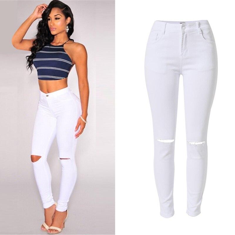 Aliexpress.com : Buy Olrain Women White High Waist Skinny Jeans ...