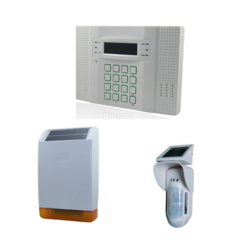 DIY GSM Alarm System with Solar Outdoor Flash Siren and Solar Motion Detector high quality solar spot alarm system kit 433mhz wireless outdoor siren with bright flash to make powerful warning