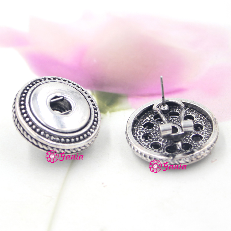 cut back backs pin silver stud brilliant earrings sterling snap round