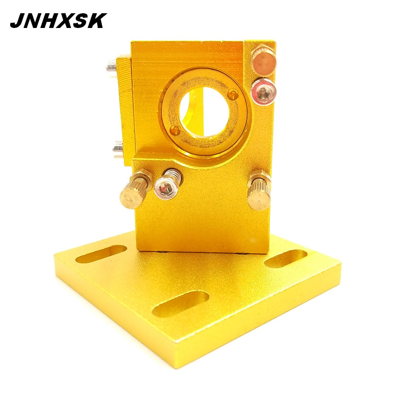JNHXSK Co2 Laser First Reflection Mirror Mount Support Integrative Holder Yellow Color For Laser Engraving Cutting Machine
