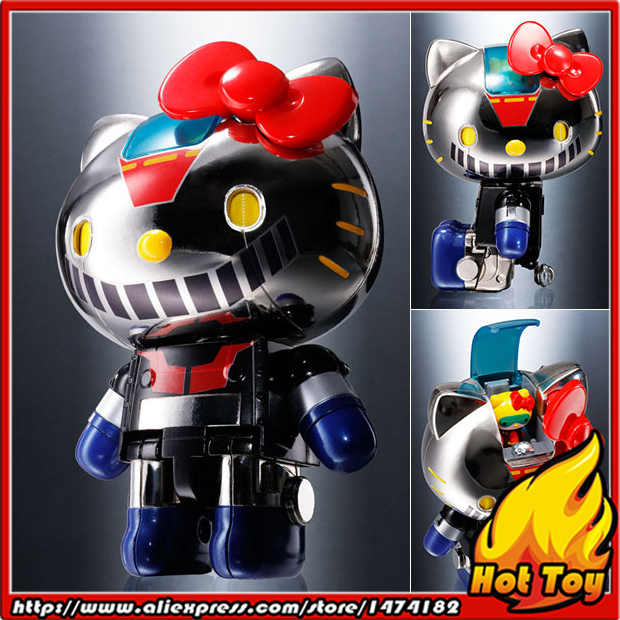 "100% Original BANDAI Tamashii Nations Chogokin <font><b>Action</b></font> <font><b>Figure</b></font> - Hello Kitty (Mazinger Z Color) from ""Hello Kitty"""