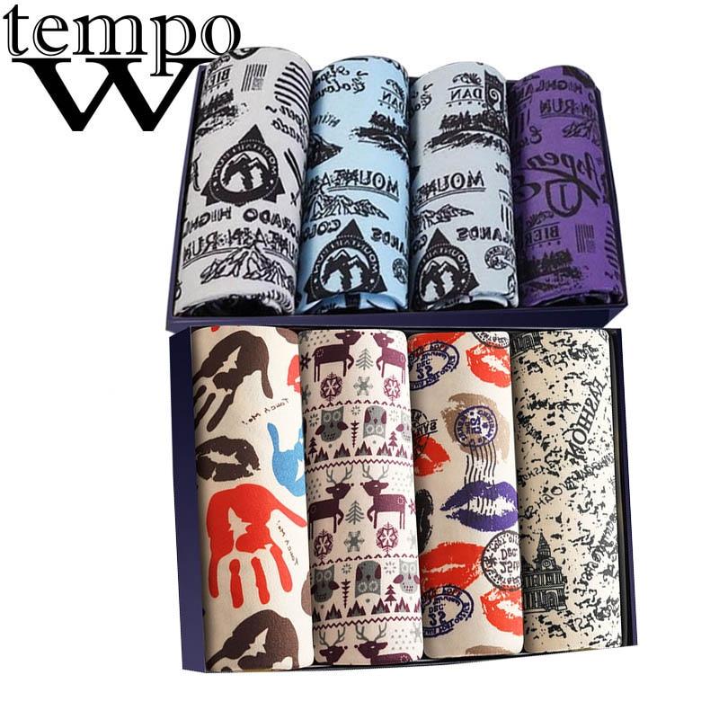 WTEMPO 8 Pcs/lot Men's Underwear Fashion Boxers For Men Sexy Brand Male Underpants Cuecas Shorts Modal Boxer Underwear Corners