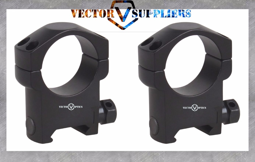 Vector Optics Tactical Mark 30mm High Profile Riflescope Rifle Scope Picatinny Weaver Mount Ring Bracket 21mm Base Black Matte