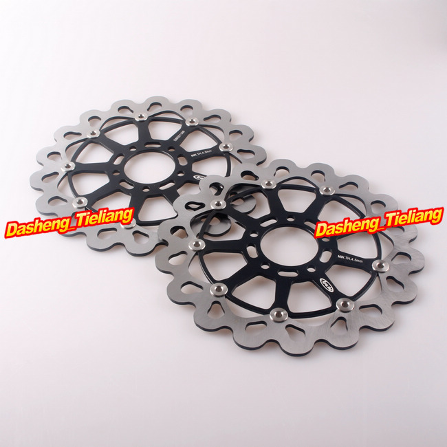 Motorcycle Front Brake Disc Rotors For Suzuki Hayabusa GSX1300R 1999 2000 2001 2002 2003 2004 2005 2006 2007 /TL1000S 1997-2001 fit for suzuki hayabusa gsx1300r 19971998 1999 2000 2001 2002 2003 2004 2005 2006 2007 abs plastic motorcycle gsx1300r 97 07 c25