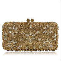 Luxury Women Hard Pearl Gold Clutch Bag Fashion Lady Beaded Small Evening Bag Hot Sale Bride