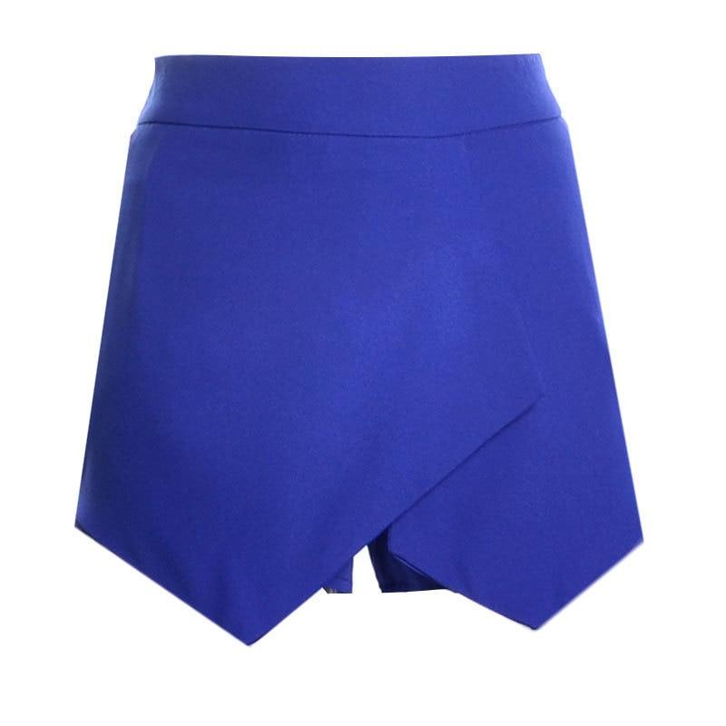 Новые повседневные шорты для женщин Летние шифоновые европейские шорты высокий эластичный пояс свободные шорты - Цвет: Синий